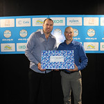 Best Paper Overall - Gary Fenwick (R) from Queensland Urban Utilities with Shane Wholsen from Iwaki Pumps